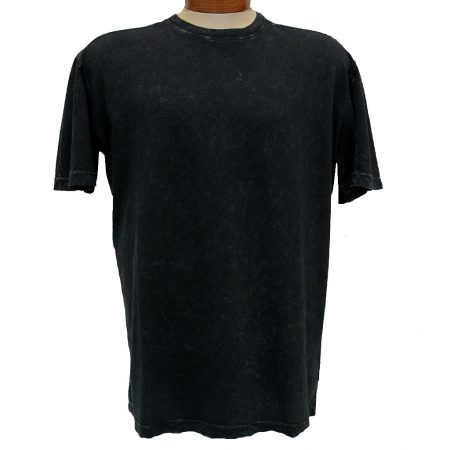 Minerals® Short Sleeve Mineral Wash Pima Cotton Crew Neck Tee #1001 Black