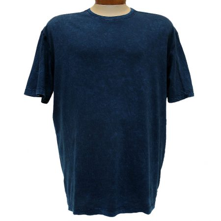 Minerals® Short Sleeve Mineral Wash Pima Cotton Crew Neck Tee #1001 Sapphire Blue