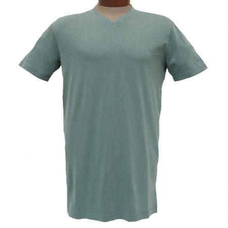 Men's Minerals® Short Sleeve Reverse Velvet Wash Pima Cotton High V-Neck Tee #MN-1017-PJ Sea Grass