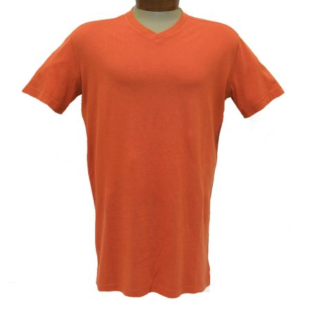 Men's Minerals® Short Sleeve Reverse Velvet Wash Pima Cotton High V-Neck Tee #MN-1017-PJ Vintage Sun