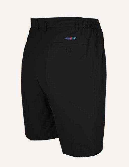 Men's Pro-Celebrity® Microfiber Golf Shorts #MF636-32 Black, Back View