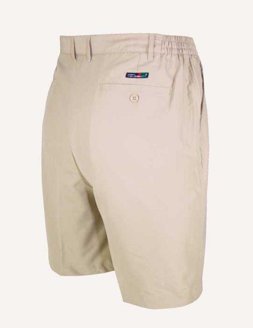 Men's Pro-Celebrity® Microfiber Golf Shorts #MF636-32 Stone, Back View
