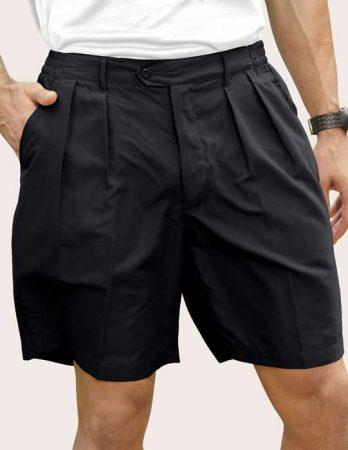 Men's Pro-Celebrity® Microfiber Golf Shorts #MF636-32 Black front view