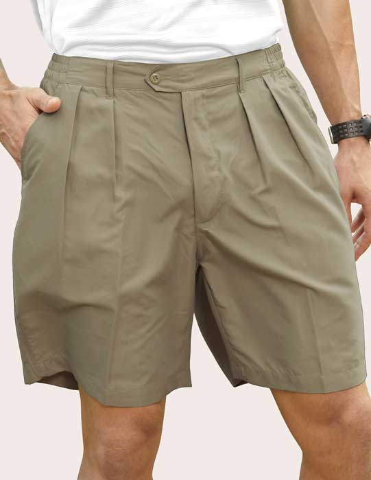 Men's Pro-Celebrity® Microfiber Golf Shorts #MF636 Khaki - Richard ...