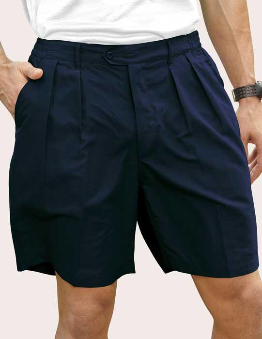 Men's Pro-Celebrity® Microfiber Golf Shorts #MF636 Navy, Front View
