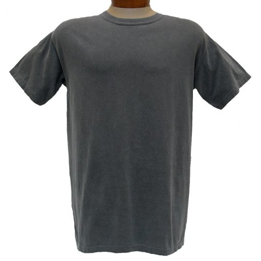 Men's R. Options by Basic Options® Short Sleeve Pigment Dyed Tee, Charcoal