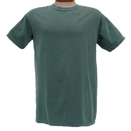 Men's R. Options by Basic Options® Short Sleeve Pigment Dyed Tee, Blue Spruce
