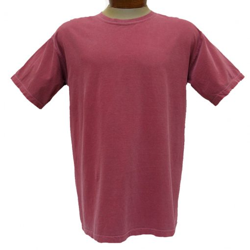 Men's R. Options by Basic Options® Short Sleeve Pigment Dyed Tee, Brick