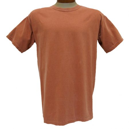 Men's R. Options by Basic Options® Short Sleeve Pigment Dyed Tee, Red Rock