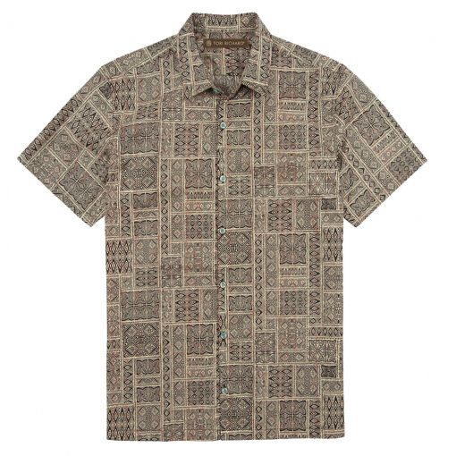 Men's Tori Richard® Cotton Lawn Short Sleeve Shirt, Dicipher #6370 Black