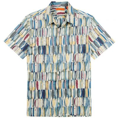 Men's Tori Richard® Cotton Lawn Short Sleeve Shirt, Board Room #0300-6383 Ocean Blue