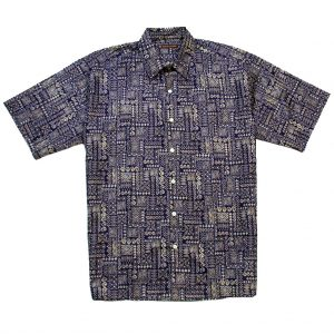 "Men's Tori Richard® Cotton Lawn Short Sleeve Shirt, Tapa Town #6993 Eggplant ""USE COUPON TR1 WHEN YOU CHECK OUT"""