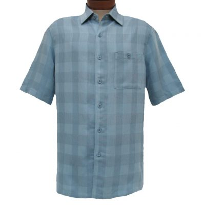 Men's Weekender® Short Sleeve Modal Blend Shirt, Quad #M031082 Bluestone