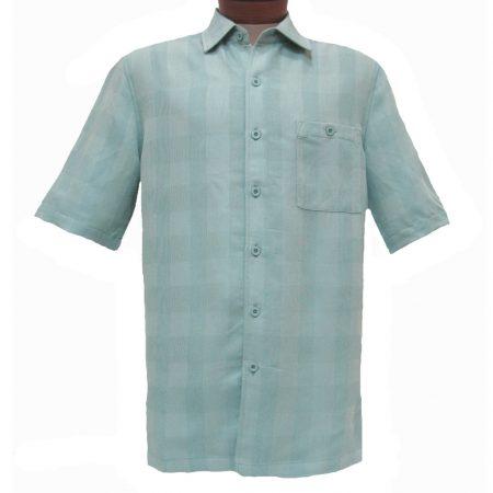 Men's Weekender® Short Sleeve Modal Blend Shirt, Quad #M031082 Jade