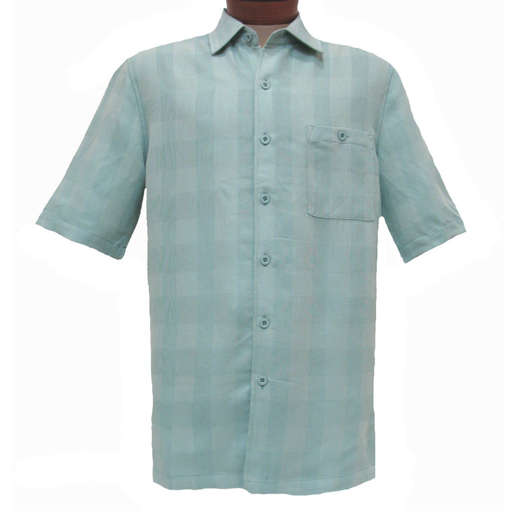 Men 39 s weekender short sleeve modal blend shirt quad for Modal t shirts mens