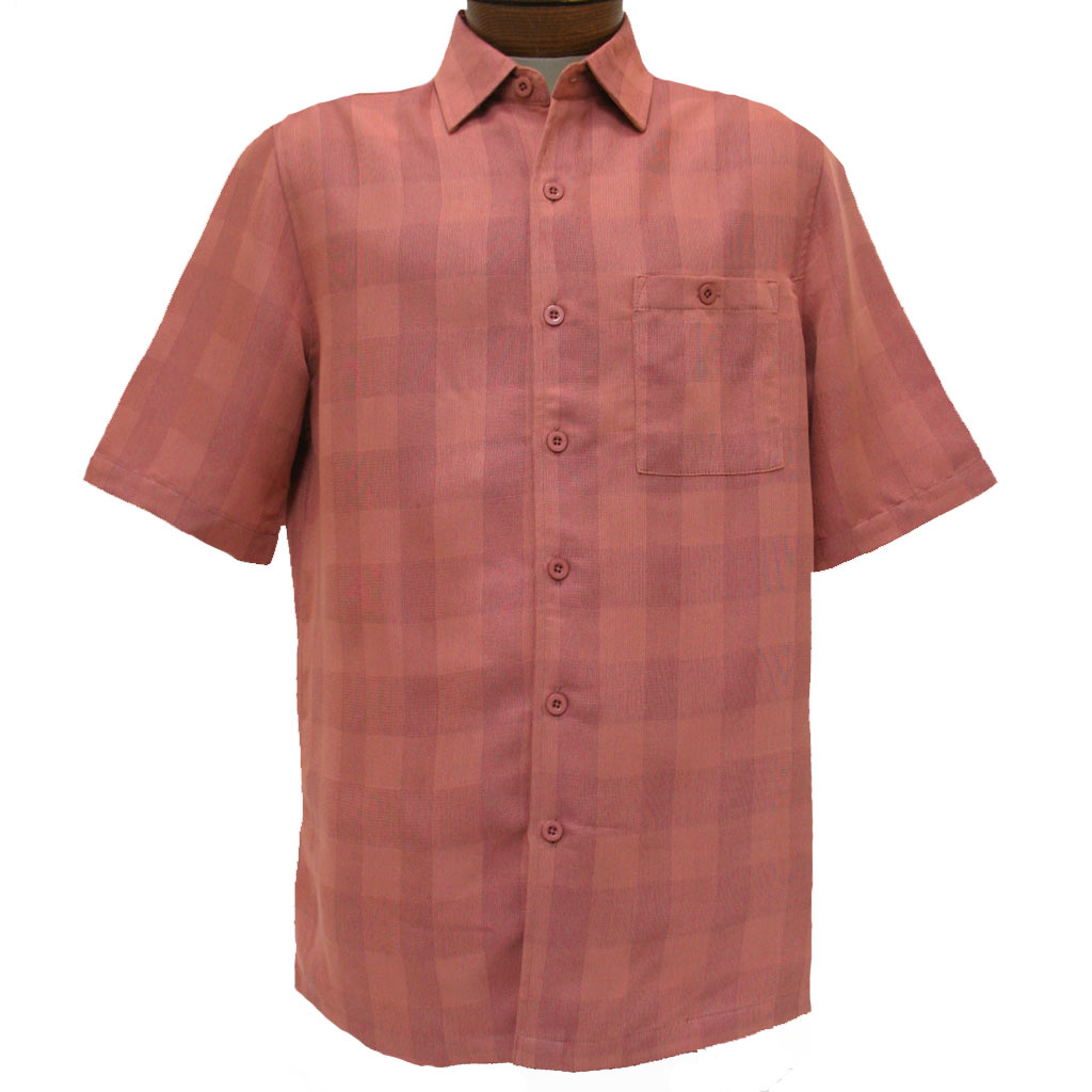 Men's Weekender® Short Sleeve Modal Blend Shirt, Quad #M031409 Salmon