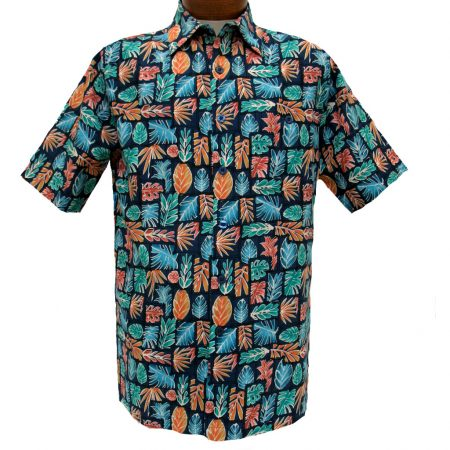 Men's Weekender® Short Sleeve Silk Blend Shirt, Java Leaf #M031511 Carbon