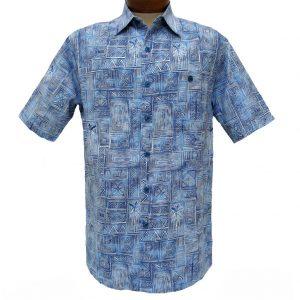 Men's Weekender® Short Sleeve Silk Blend Shirt, Pelago #M031482 Blue Lagoon (M, ONLY!)
