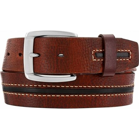 Brighton Wilkes, Brown-Black Leather Belt, M70815