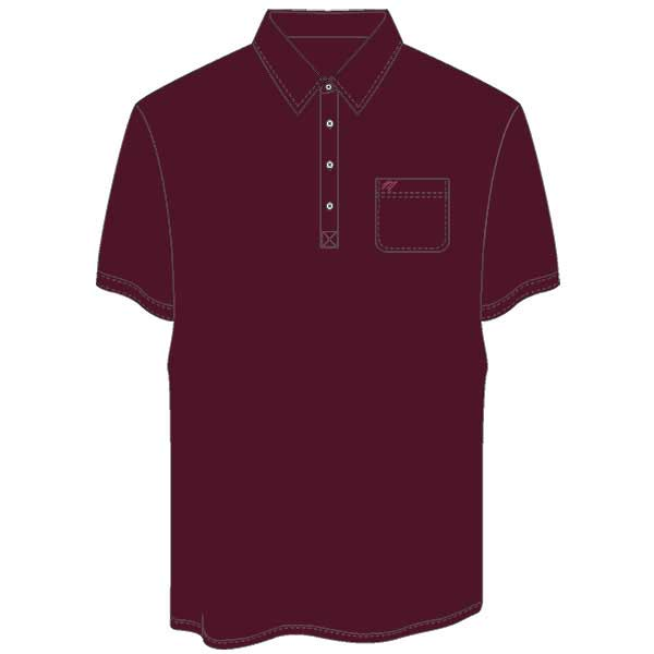 Men's Merola Short Sleeve Hard Collar Knit Golf Shirt Burgundy