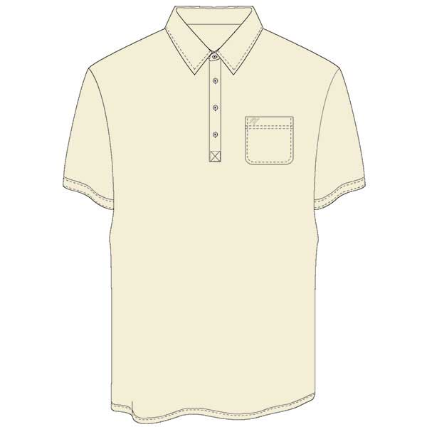 Men's Merola Short Sleeve Hard Collar Knit Golf Shirt Cream