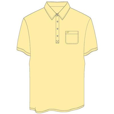 Men's Merola Short Sleeve Hard Collar Knit Golf Shirt Maize