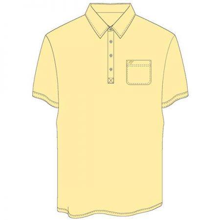 Men's Merola Short Sleeve Hard Collar Knit Golf Shirt Maize