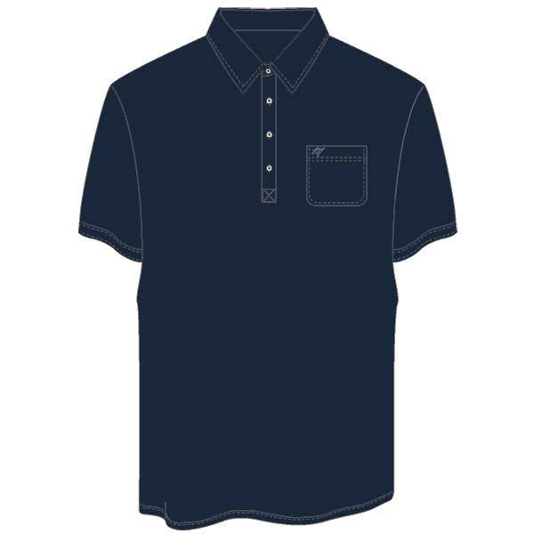 Men's Merola Short Sleeve Hard Collar Knit Golf Shirt Navy