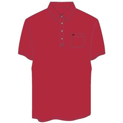 Men's Merola Short Sleeve Hard Collar Knit Golf Shirt Red