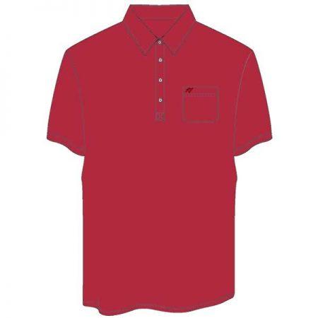 Men's Merola Short Sleeve Hard Collar Knit Golf Shirt Red