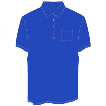 Men's Merola Short Sleeve Hard Collar Knit Golf Shirt Royal