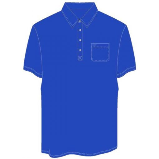 Men's Merola Short Sleeve Hard Collar Knit Golf Shirt Royal