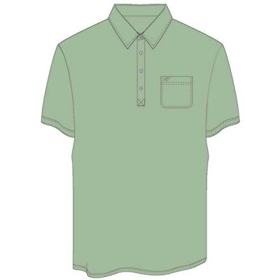Men's Merola Short Sleeve Hard Collar Knit Golf Shirt Sage