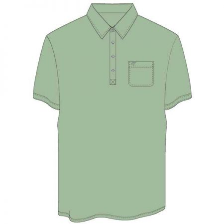 Men's Merola Short Sleeve Hard Collar Knit Golf Shirt Sage