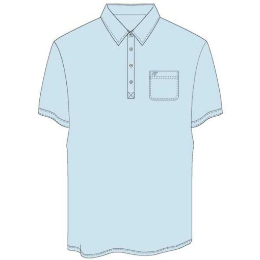 Men's Merola Short Sleeve Hard Collar Knit Golf Shirt Sky Blue