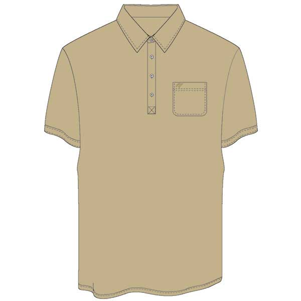 Men's Merola Short Sleeve Hard Collar Knit Golf Shirt Tan