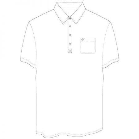 Men's Merola Short Sleeve Hard Collar Knit Golf Shirt White